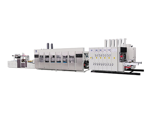 Full automatic high speed flexo printing slotting rotary die cutting link line