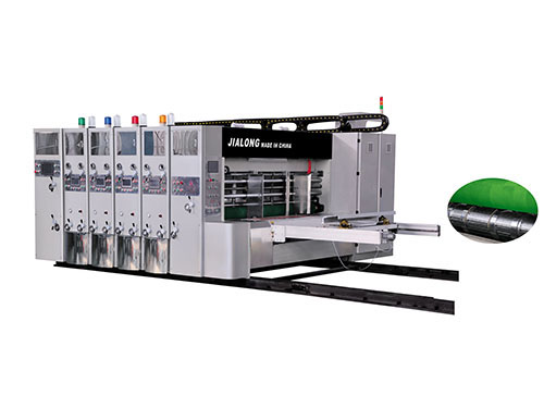 JLA Full automatic high speed flexo printer slotter die cutter stacker machine